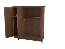 Шкаф распашной 3-х створчатый с ящиками Эдем Комби Тополь