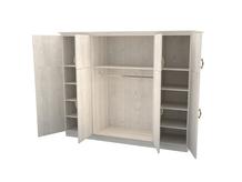 Шкаф распашной 4-х створчатый с ящиками Эдем Комби ЛДСП