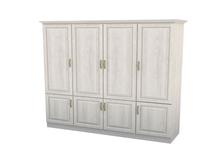 Шкаф распашной 4-х створчатый с ящиками Эдем Комби Тополь