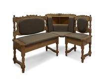 Угловой диван для кухни Картрайд Шале с резьбой